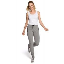 Dámske šedé bavlnené nohavice MOE208