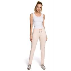Dámske béžové bavlnené nohavice MOE208