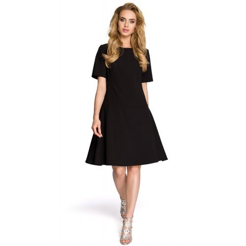 Dámske čierne šaty v Alínii MOE227