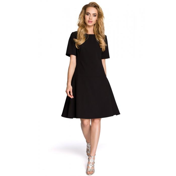 78878b1b3584 Dámske čierne šaty v Alínii MOE227