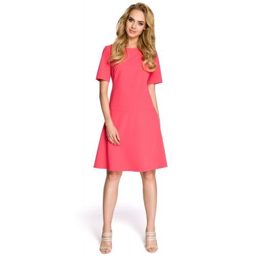 Dámske ružové šaty v Alínii MOE227