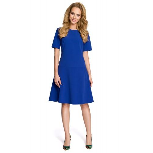 Dámske modré šaty v Alínii MOE227