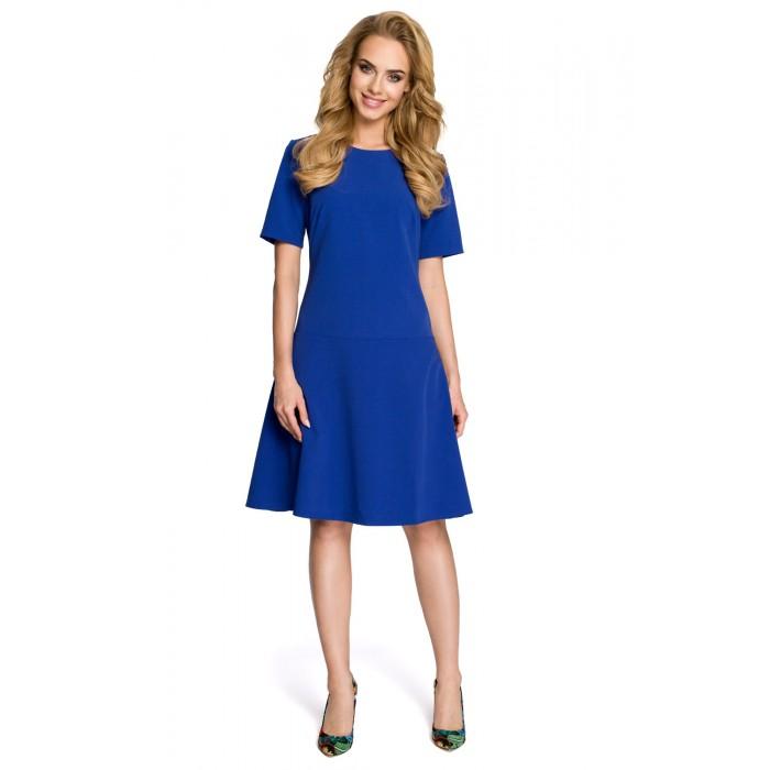 9a75756ae9ca Dámske modré šaty v Alínii MOE227