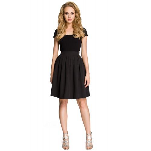 """Dámska čierna """"áčková"""" naberená sukňa MOE237"""