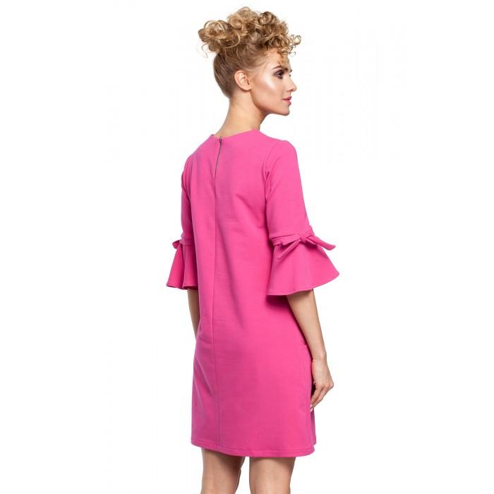 844135a6992b Fuchsiové MINI šaty so zvonovými rukávmi v Alínii MOE286