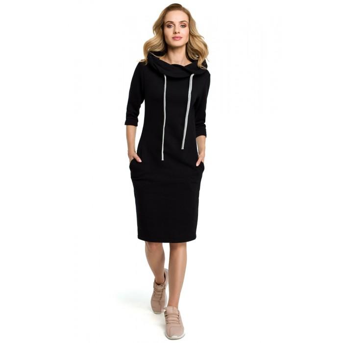8217d73edb0f Čierne púzdrové úpletové športové šaty MOE391