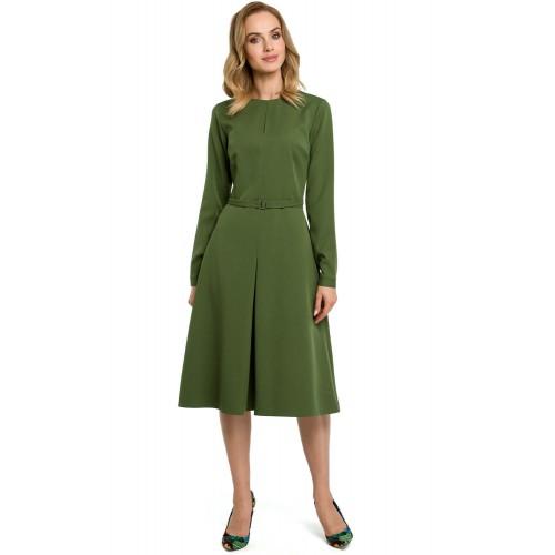 Zelené šaty v Alínii s opaskom MOE398 XL