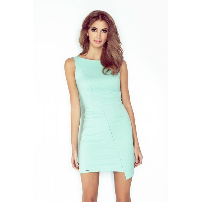 Mätové púzdrové šaty bez rukávov - MM 004-5 d0a847cf316