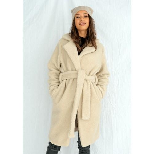 Béžový kabát TEDDY BEAR  MSQ-P06