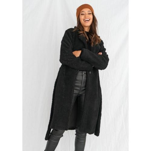 Čierny kabát TEDDY BEAR  MSQ-P05
