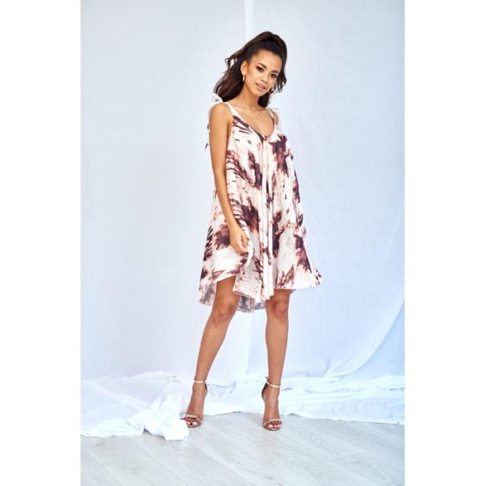 2bd436b130 Univerzálne saténové šaty na ramienka POWDER PRNT