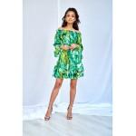 Zelené vzorované MINII šaty BANANAS
