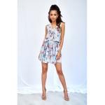 Mätové letné mini šaty s dvojitým volánom MIATA FLOWERS