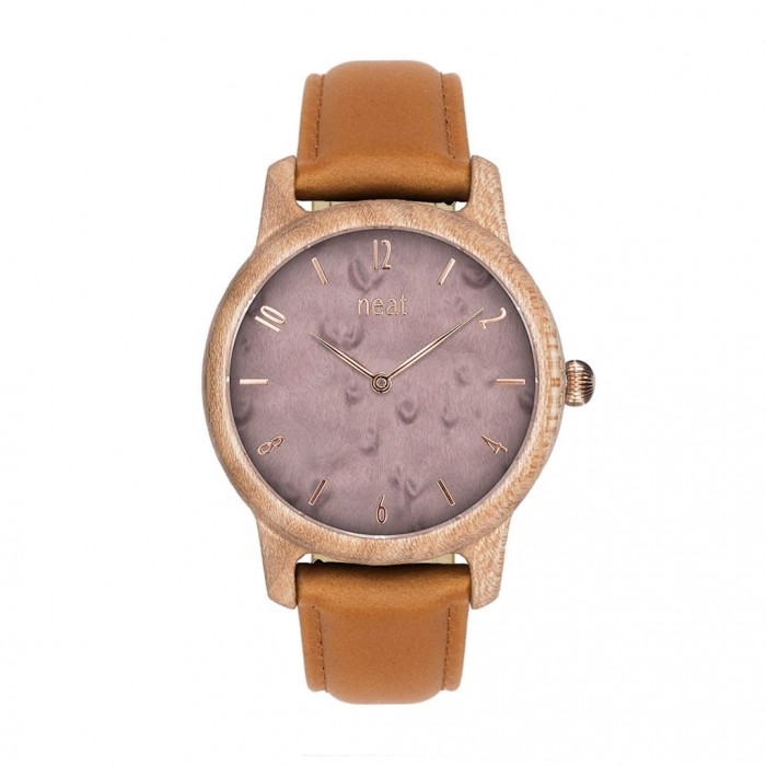 Drevené dámske svetlobéžové hodinky s teľacím koženým remienkom SLIM38 N101 f08e52ee794