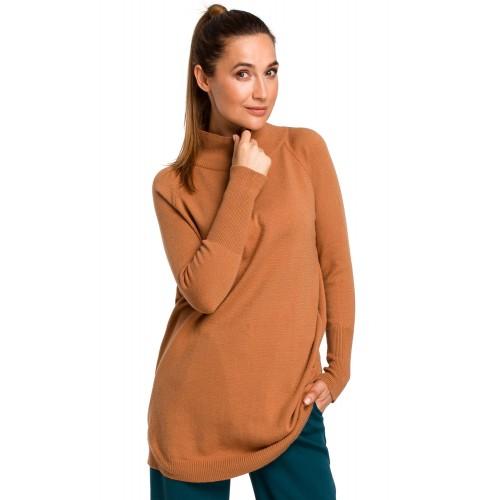 Camel dlhý pulover so stojačikom S184