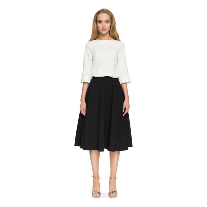 ea15303f7e0f Style Čierna Áčková MIDI sukňa S006