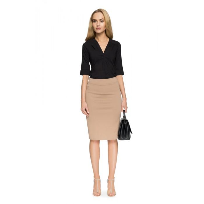 722a5c247ffb Style Béžová elastická púzdrová sukňa S009