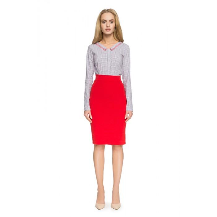 9c3259119731 Style Červená elastická púzdrová sukňa S009
