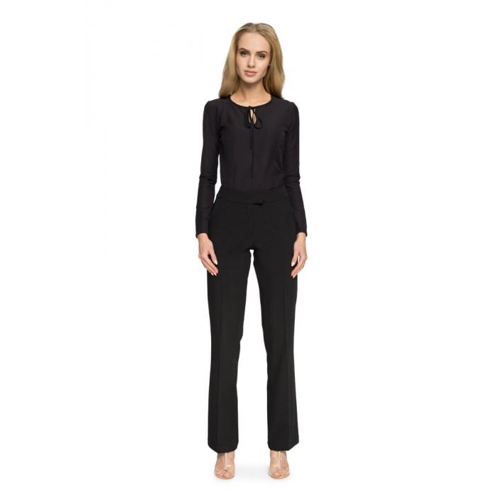 1f1844721165 Style Elegantné čierne nohavice na puky S015