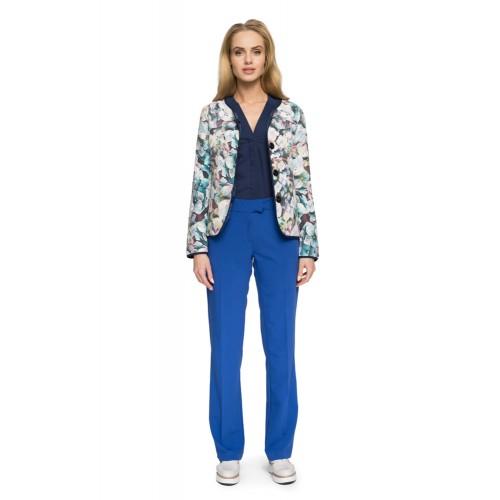 44affaf20474 Style Elegantné kráľovsky modré nohavice na puky S015