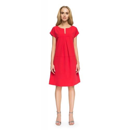 """Style Červené """"áčkové"""" šaty 3 ELEMENTS S020"""