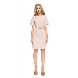 Style Púdrovoružové púzdrové šaty so zadným výstrihom S025