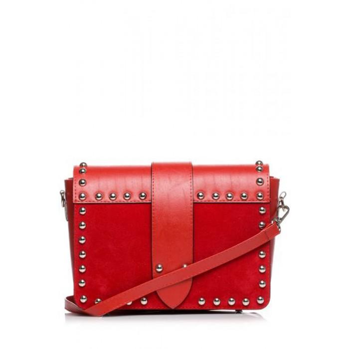 6f0db86a11ab Červená crossbody kabelka s vybíjaním SB400