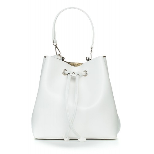 Biela kabelka s viazaním SB418