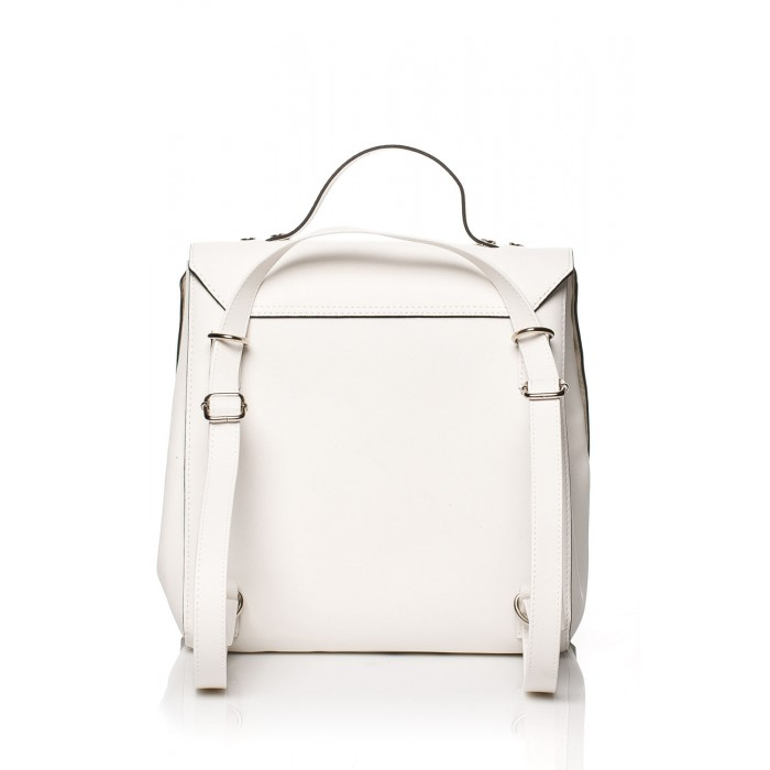 d00cf3a49cbe Biela kabelka s vybíjaním a uškom SB417