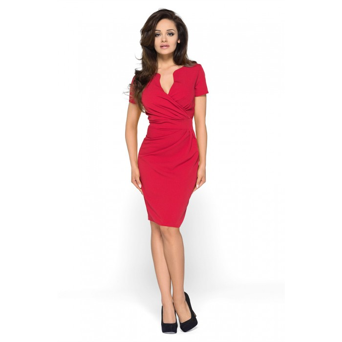 1ac0d120475c Červené elegantné šaty KM56 36
