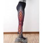 Pruhované farebné športové legíny FITNESS Trening LEG23