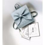 Modrý kabelkový batoh 2v1 s mašľou T75N