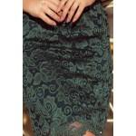 Jasne zelené čipkované šaty s dlhým rukávom 180-3