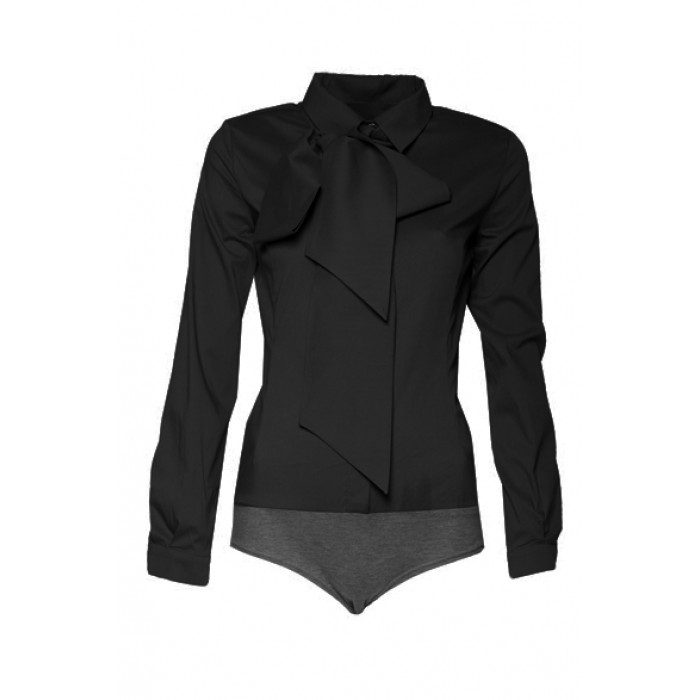 71c986f99afe Dámske čierne elegantné košeľové body K240
