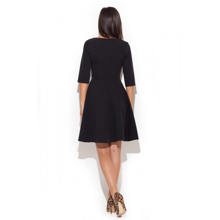Dámske čierne áčkové šaty K219 959b1129557