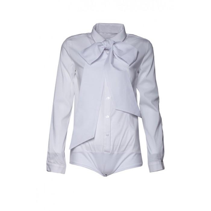 231de573ff48 Dámske biele elegantné košeľové body K240