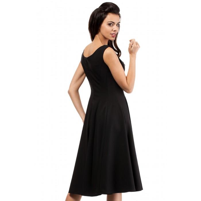 ff647d17fcf7 Dámske koktejlové čierne šaty MOE201