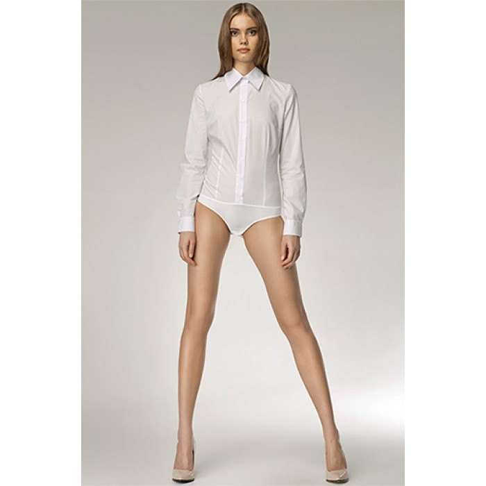 8663851cf77b Dámske biele košeľové body k22 38