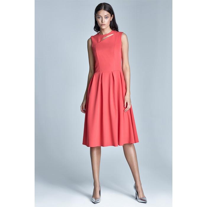 Dámske korálové šaty v línii A s73 c5b0c66649e