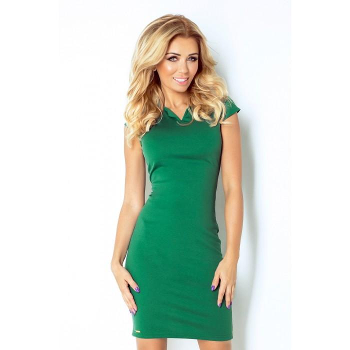 Zelené elegantné úpletové šaty 132-5 71072e78d6c