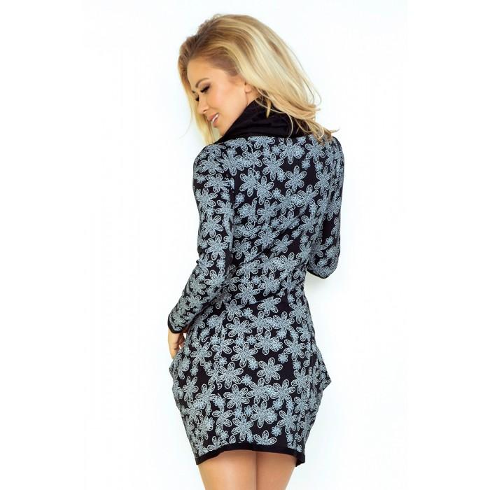 94467d0e629c Čierne rolákové úpletové šaty KVET 135-3