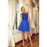 Kráľovsky modré šaty so širokou sukňou a čipkou MARTA 157-5