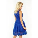 Kráľovsky modré exkluzívne čipkované šaty 173-1