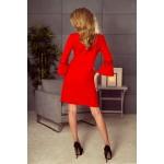 Červené šaty v A-línii MARGARETA 190-3 S