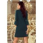 Smaragdovo zelené šaty v A-línii MARGARET 190-7 M