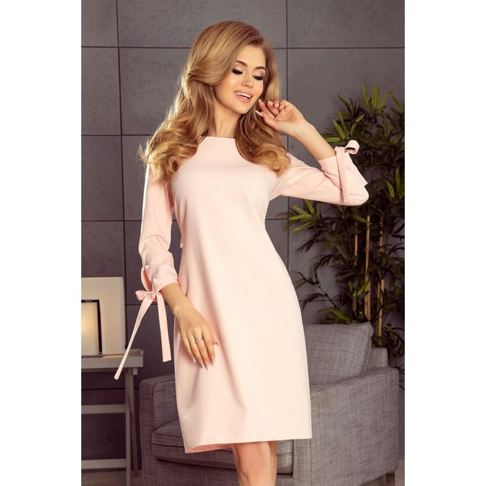 14b6fe9a54ce Pastelovo ružové šaty s viazaním vzadu ALICE195-2