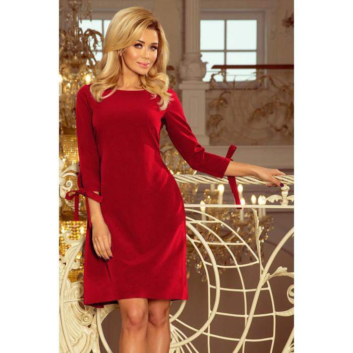 3704fe63e Bordové šaty s viazaním vzadu ALICE 195-3