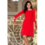 Červené šaty s viazaním vzadu ALICE 195-4