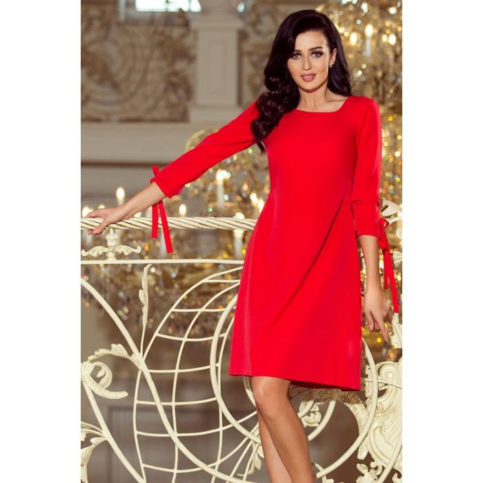 45b618d16f4e Červené šaty s viazaním vzadu ALICE 195-4