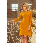 Horčicovo žlté šaty s viazaním vzadu ALICE 195-6 XL